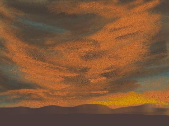 sunset digital painting