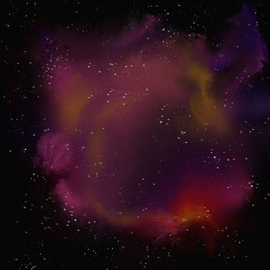 digital painting of fantasy nebula
