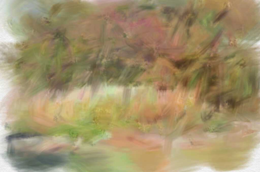 """digital painting of """"Rushes in Summer"""""""