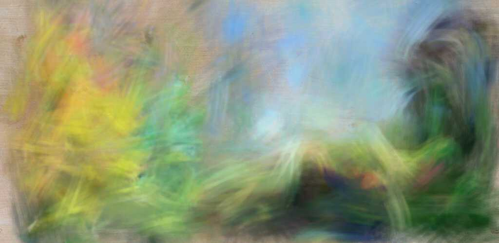 digital painting of Somerset 19 Back Yard in Summer