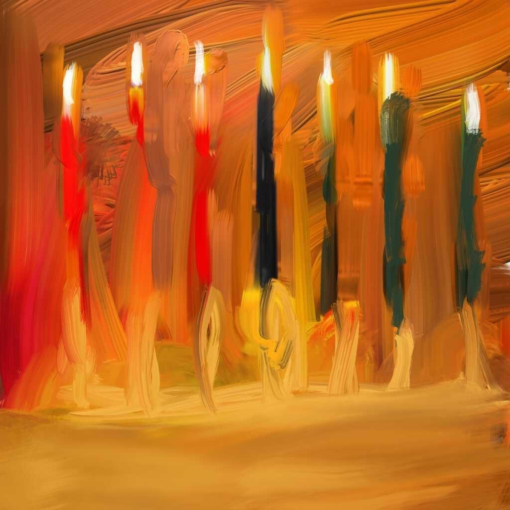 "Digital painting of ""Joyous Kwanzaa"""