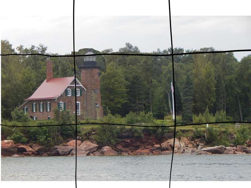 an image with a 3x3 grid superimposed; used to re-compose the picture